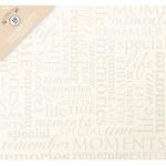 """Colorbok Post Bound Album 12""""X12""""-Memories -Cream"""
