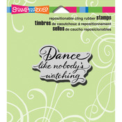 Dance Like - Stampendous Cling Rubber Stamp