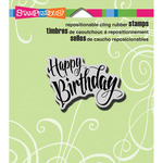 Penned Birthday - Stampendous Cling Rubber Stamp