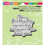 Your Wedding - Stampendous Cling Rubber Stamp