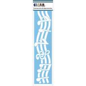 "Music Notes - Clear Scraps Border Stencils 3""X12"""