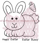 Hoppy Bunny - Woodware Clear Stamps