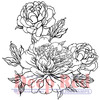 Carnation Blooms - Deep Red Cling Stamp