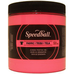 Hot Pink - Speedball Fabric Screen Printing Ink Fluorescent 8oz