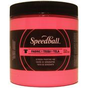 Hot Pink - Speedball Fabric Screen Printing Ink Fluorescent 8oz