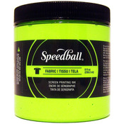 Lime Green - Speedball Fabric Screen Printing Ink Fluorescent 8oz