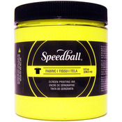 Yellow - Speedball Fabric Screen Printing Ink Fluorescent 8oz