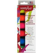 Fluorescent - Handy Art Acrylic Paint Kit .75oz 6/Pkg