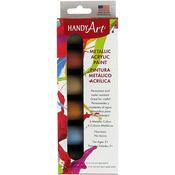 Metallic - Handy Art Acrylic Paint Kit .75oz 6/Pkg