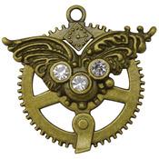 Filigree Cog - Brass Embellishments 5/Pkg