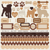 Dog Cardstock Stickers - Furry Friends - KaiserCraft