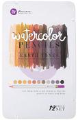 Earth Tones Watercolor Pencils - Mixed Media - Prima