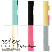 Color Crush Personal Planner Dip Dye Divider Set Kit