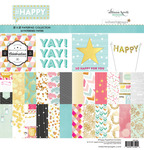 Happy 12 x 12 Paper Pad - Websters Pages