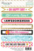 Sentiment 4 x 6 Sticker Sheet - Happy - Websters Pages