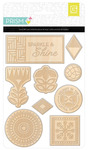 Prism Laser Cut Wood Stickers - Basic Grey