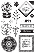 Shine Bright Clear Stamps - Prism - Basic Grey
