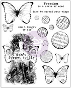 Don't Forget To Fly Cling Stamps - Finnabair - Prima