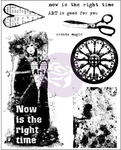 Now Is The Right Time Cling Stamps - Finnabair - Prima