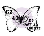 Butterfly 3 Wood Mounted Stamp - Finnabair - Prima