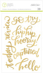 Amelia Gold Phrase Stickers - 7 Paper