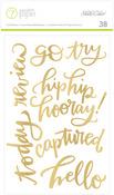 Gold Phrase Stickers