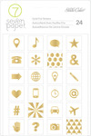 Amelia Gold Foil Icon Stickers - 7 Paper