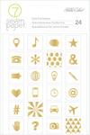 Amelia Gold Foil Icon Stickers - 7 Paper