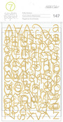 Gold Foil Alpha Stickers - Baxter - 7 Paper
