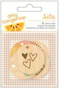 Rise & Shine Wood Veneer Tags - Amy Tangerine