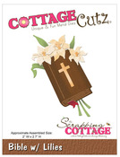 Bible With Lilies Metal Die - CottageCutz