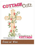 Cross With Vine Metal Die - CottageCutz