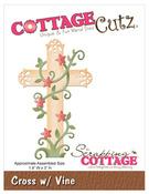 Cross With Vine Metal Die - CottageCutz