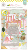 Citrus Bliss Chipboard Stickers - Pink Paislee