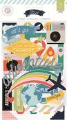 Atlas Chipboard Stickers - Pink Paislee