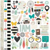 Fundamental Sticker Sheet - I Am - Simple Stories