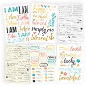 I Am 4 x 6 Sticker Sheets - Simple Stories