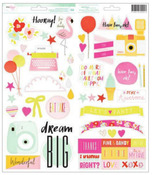 Fine & Dandy Phrase & Accent Stickers - Dear Lizzy