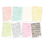 Snap Lights Color Vibe Letter Stickers - Simple Stories