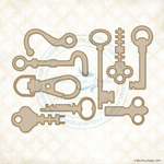 Hooks & Keys Laser Cut Chipboard - Blue Fern Studios