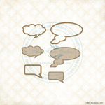 Word Bubbles Laser Cut Chipboard - Blue Fern Studios