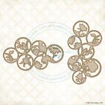 Organic Coins Laser Cut Chipboard - Blue Fern Studios