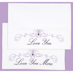 Love You, Love You More - Stamped Pillowcases W/White Perle Edge 2/Pkg