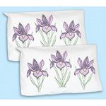 Stamped Pillowcase Shams 2/Pkg - Iris