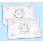 Stamped Pillowcase Shams 2/Pkg - XX Colonial