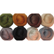 "Rustic - Wool Roving 12"" .25oz 8/Pkg"