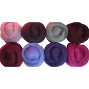 "Lilacs - Wool Roving 12"" .25oz 8/Pkg"