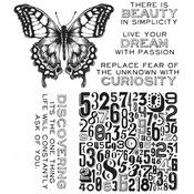 Perspective - Tim Holtz Cling Rubber Stamp Set