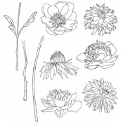 Flower Garden - Tim Holtz Cling Rubber Stamp Set