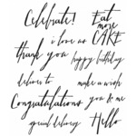 Handwritten Sentiments - Tim Holtz Cling Rubber Stamp Set